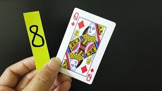 Crazy Magic Trick With Cards and Numbers