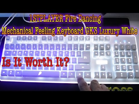 ff0fe991b11 Unboxing & Review Of 1STPLAYER Fire Dancing Mechanical Feeling Keyboard GK3  Luxury White