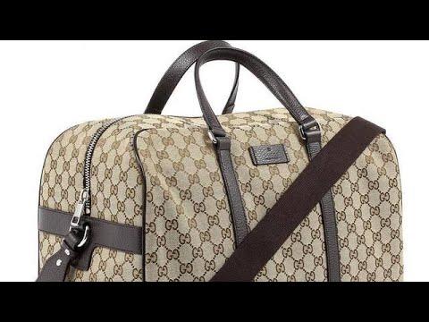 a4c5c2c12e4f Stella Saksa - Gucci Unisex Classic Luggage Original GG Canvas Carry On  Duffle Travel Bag 44916
