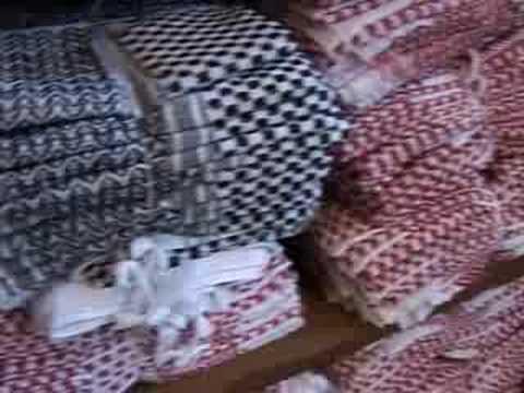 Palästinensertuch kämpft mit Kopien aus China
