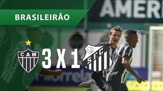 ATLÉTICO-MG 3 X 1 SANTOS - GOLS -  12/08 - BRASILEIRÃO 2018