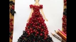 Фантастические рисунки с помощью фруктов и ягод