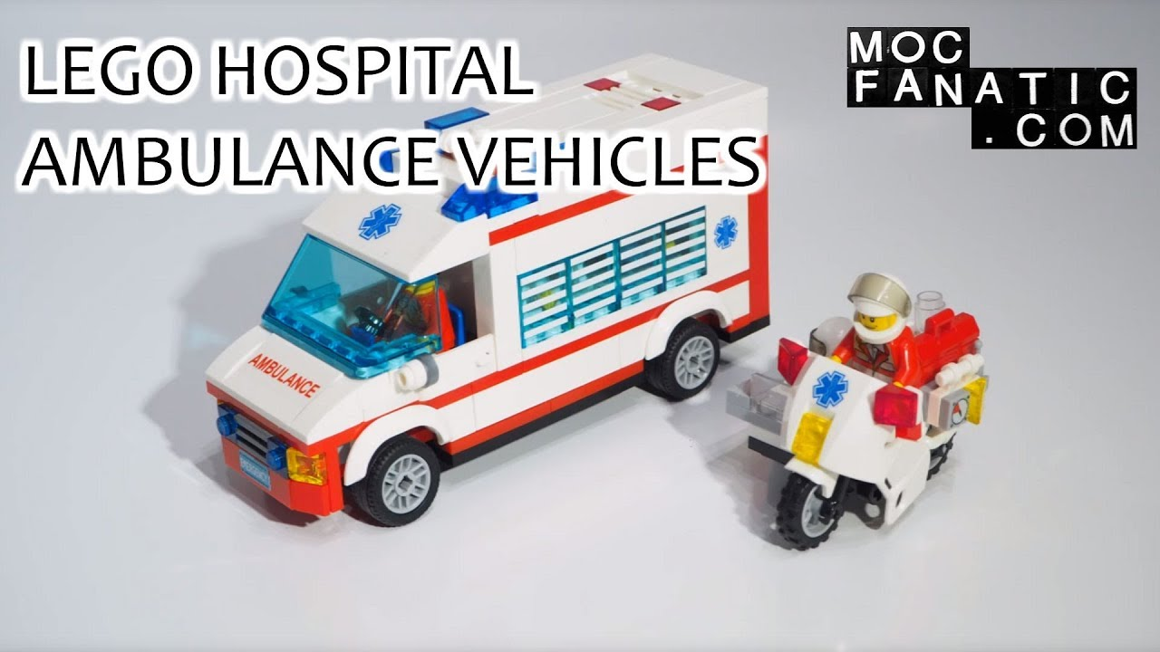 Lego hospital ambulance and motorcycle youtube - Lego ambulance ...