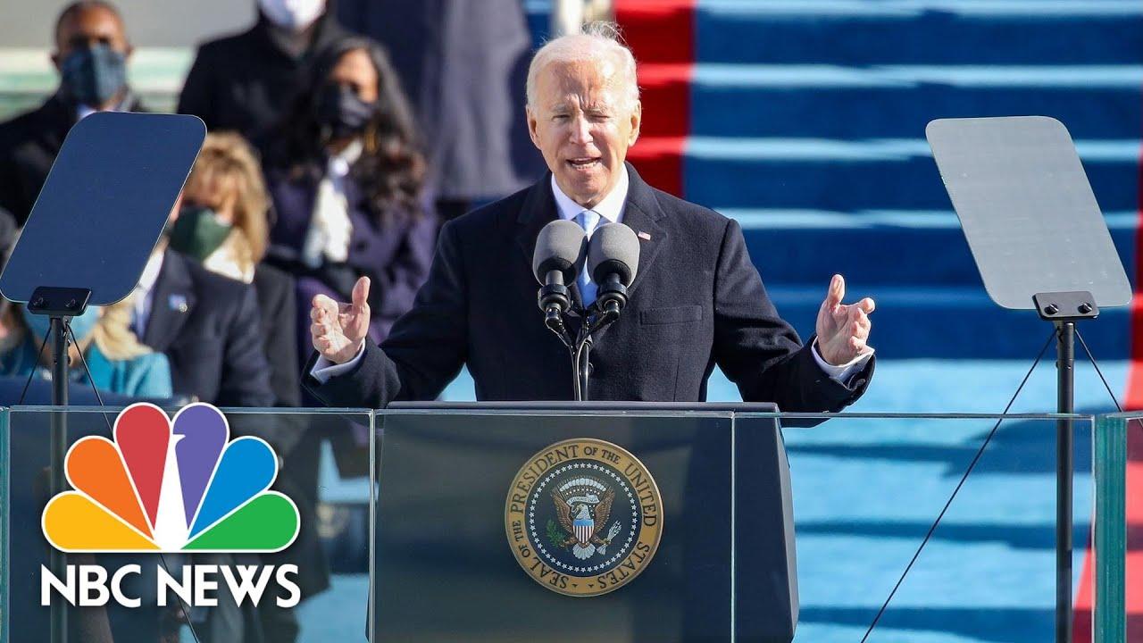 Watch Full Speech: President Biden Delivers Inaugural Address | NBC News