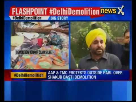 16587 governance stage NewsX Delhi Slum Demolition׃ AAP, TMC to Protest Outside Parliament