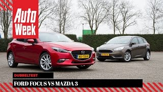Ford Focus vs. Mazda 3 - Dubbeltest - English subtitles