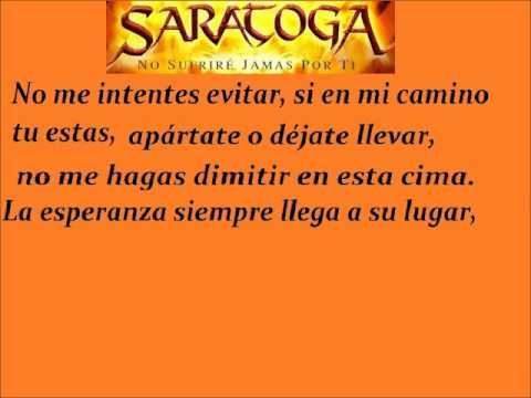Mucho Por Vivir- Saratoga (letra)