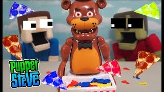 Five Nights at Freddy's Game Beware the Jumpscare Puppet Steve vs Zombie Fnaf Steve Pizza