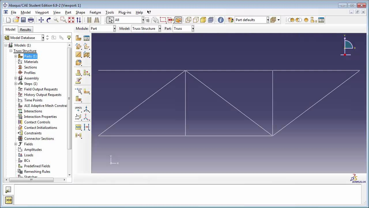 1 b) Static Analysis of a 2D truss - Part 1 of 2 (with audio)