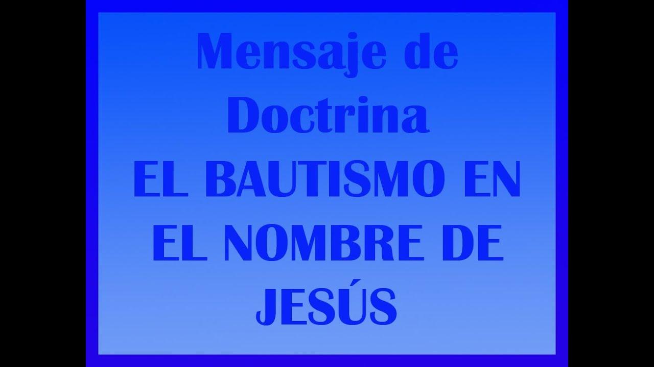 Bautismo en el NOMBRE de Jesus - el mundo biblico