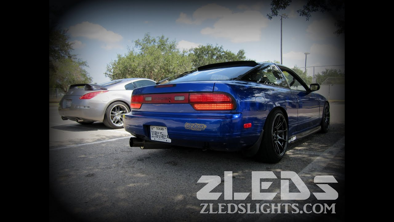 Car Tail Lights >> S13 240sx Custom Rear LED Conversion Test Drive - YouTube