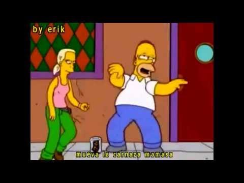 Homero bailando mueve la carnasa mamasa