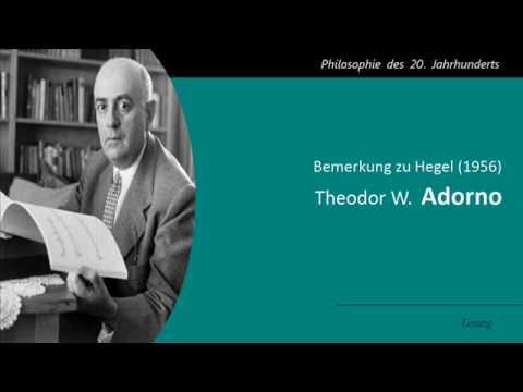 Adorno - Bemerkung zu Hegel 1956