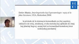 2020 VEKI: Interlingvistiko kaj Universitato: pripensoj el fakula vidpunkto – Davide Astori