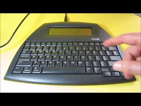 Neo 2 $29 word processor review & how to transfer files to PC