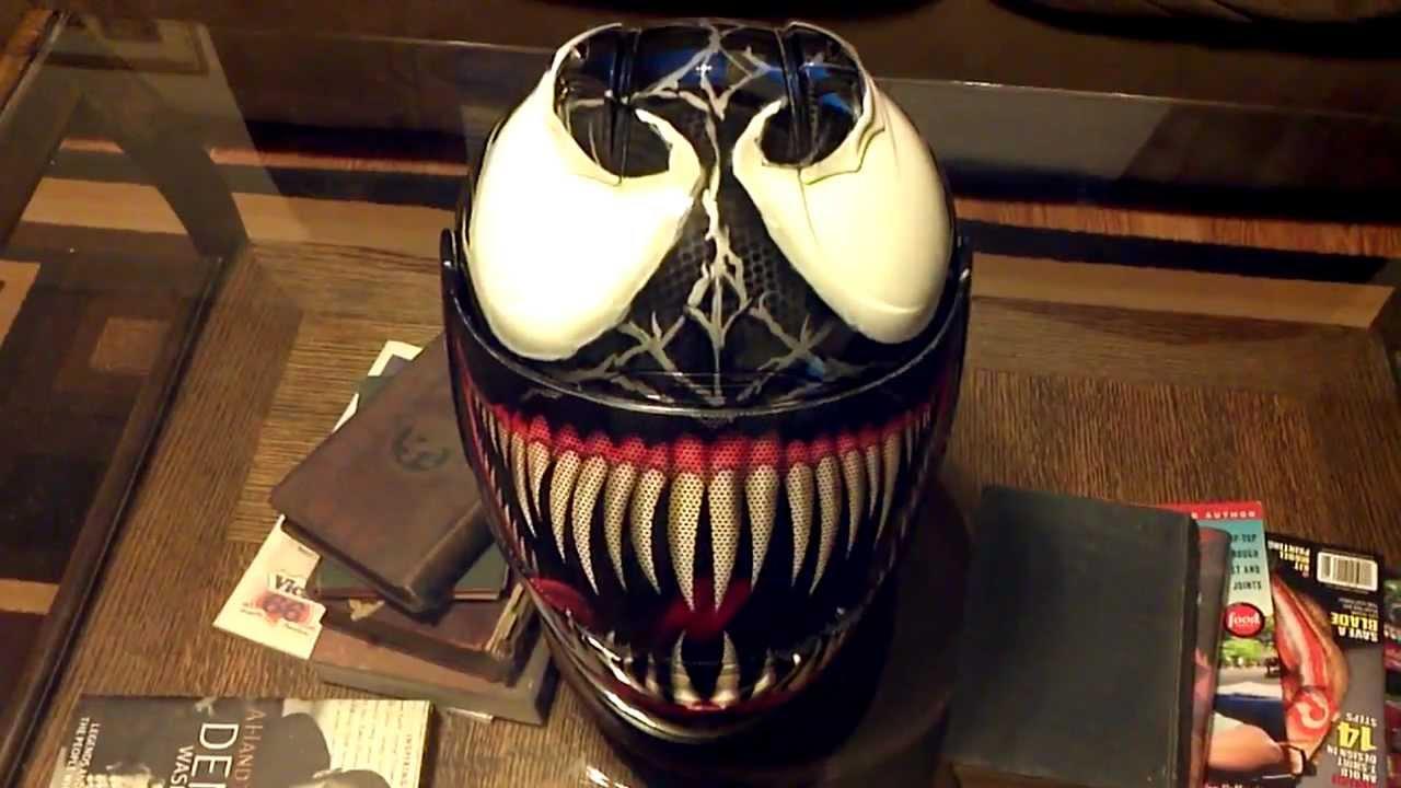 Custom Airbrushed Venom Icon Helmet Youtube