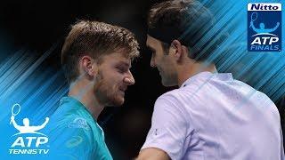 Video David Goffin stuns Roger Federer to reach final   Nitto ATP Finals 2017 download MP3, 3GP, MP4, WEBM, AVI, FLV November 2017