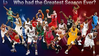 Using Numbers To Find Out Who Had The Best Season In NBA History