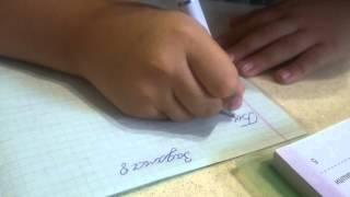 Никита делает уроки :)