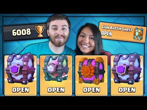 6000 TROPHIES & ALL MY CHEST OPENING! | Clash Royale | LEGENDARY CHEST & CLAN CHEST LEGENDARY!