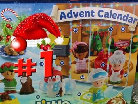 Christmas Advent Calendar Toys Surprise 2015 Little People Day 1 By Kikiland С Новым Годом!