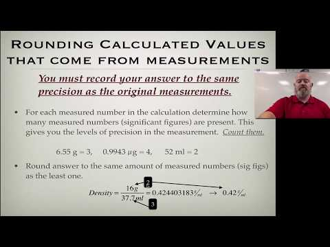 Rounding Calculated Values from Measured Numbers - YouTube