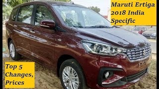 Maruti Ertiga 2018 India Specific Looks, Features, Safety, Price Changes of New Generation