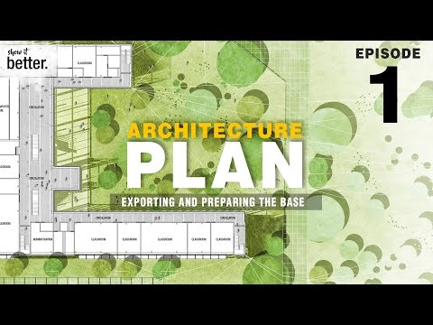 Architecture Plan in Photoshop Ep 1 Exporting and Preparing the Base