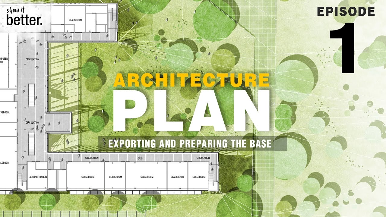 Architecture Plan In Photoshop Ep 1 Exporting And