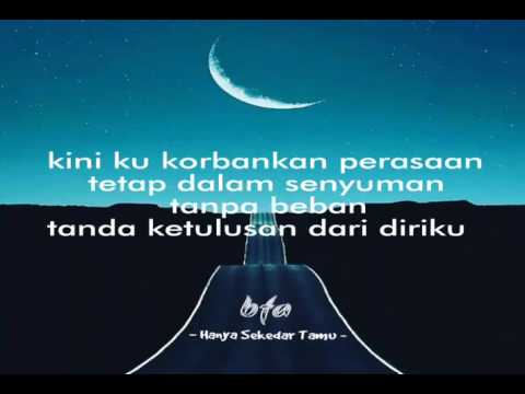 Hanya Sekedar Tamu  -  bfa ( lyrics video ) non original audio