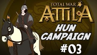 Let's Play Total War: Attila Gameplay - Huns Campaign - Part 3 - A Lucky Battle!