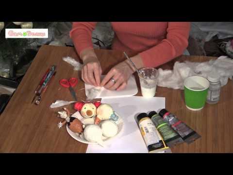 Как делать игрушки из ваты
