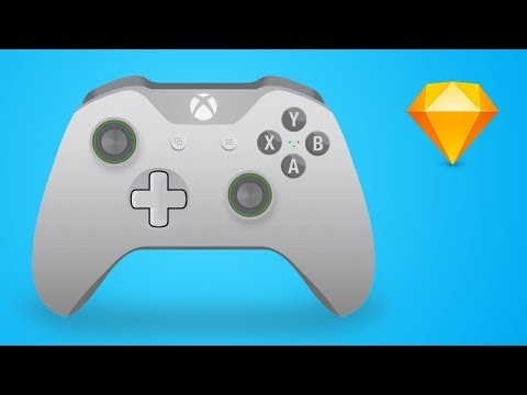 Illustration Tutorial: How to Design an Xbox One Controller Vector Graphic in Sketch