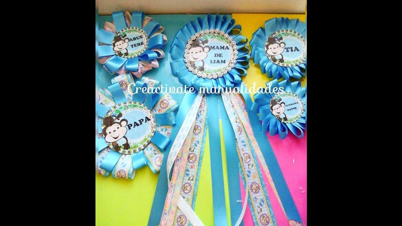 como hacer corsage para baby shower distintivos de babyshower