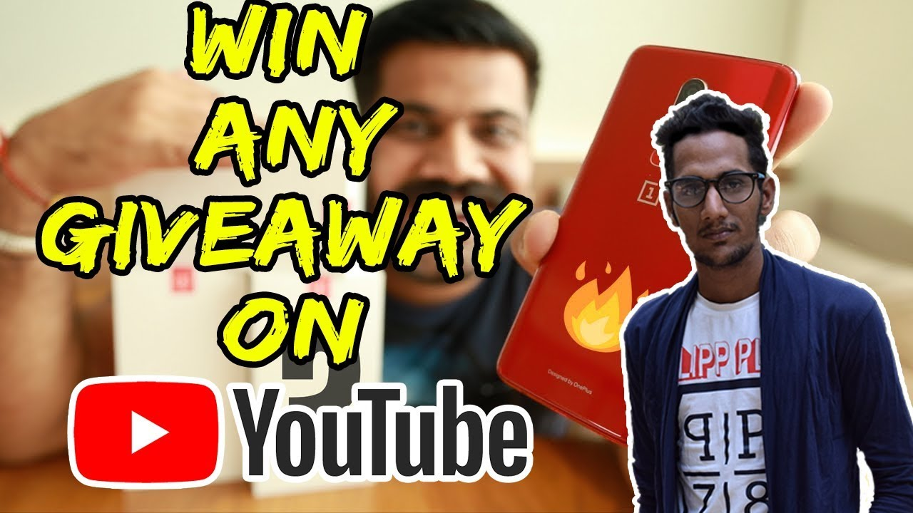 How to win a giveaway on youtube
