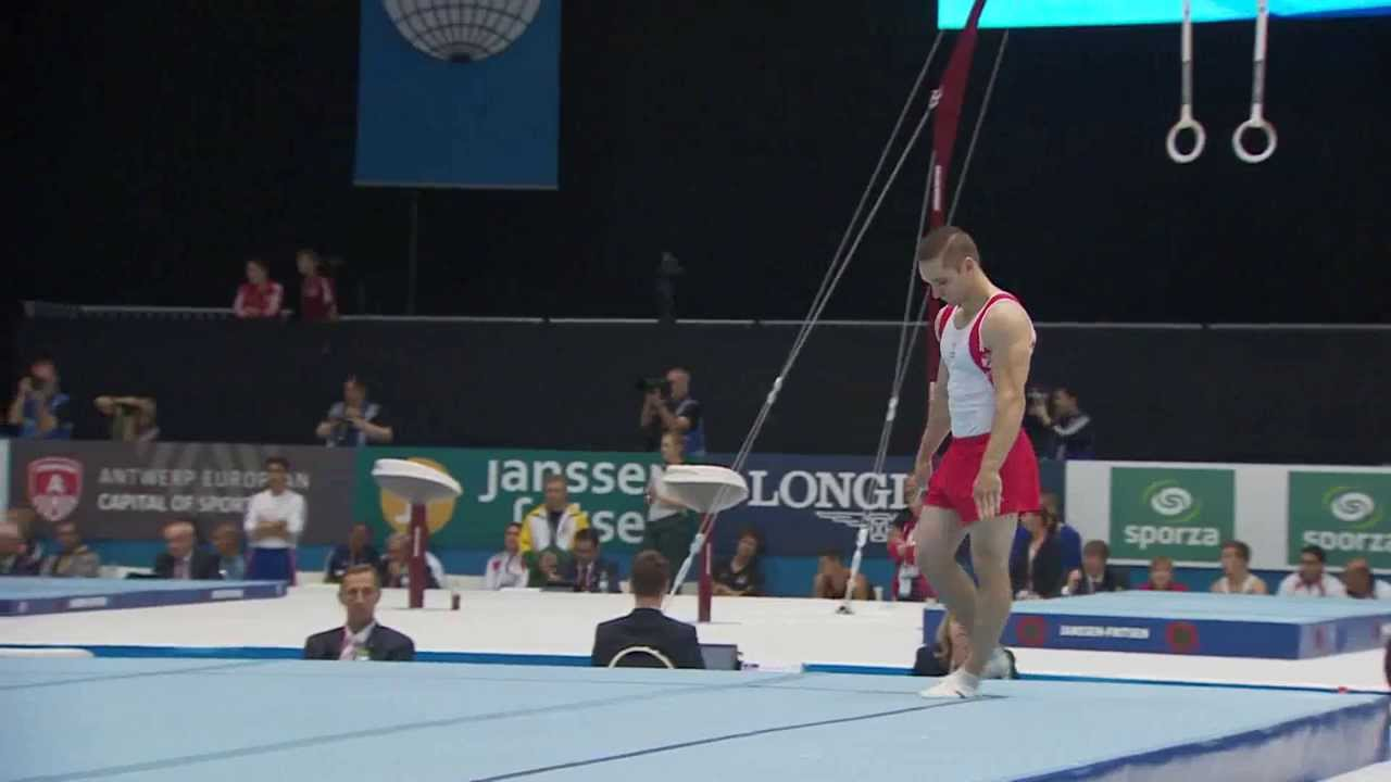 Scott morgan floor routine men 39 s qualification 2013 for Floor gymnastics