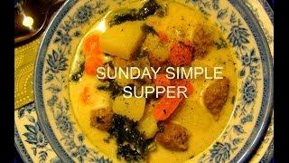 Sunday Simple Supper Kale Soup