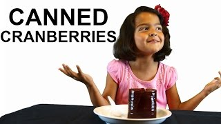 8 Kids Eat CANNED Cranberry Sauce for the First Time!