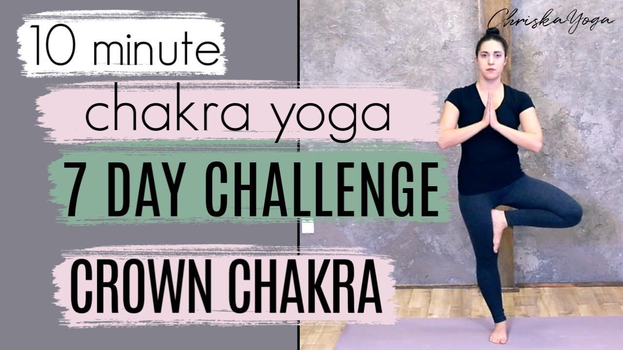 35 Min Crown Chakra Yoga Routine  DAY 35: 35 Day Chakra Yoga Challenge   ChriskaYoga