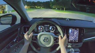 2021 Volvo S90 Recharge T8 Inscription - POV Night Drive (Binaural Audio)