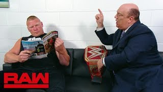 Download Paul Heyman pleads with Brock Lesnar to go to the ring: Raw, July 30, 2018 Mp3 and Videos