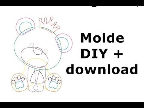 Como Fazer Molde De Ursinho Youtube
