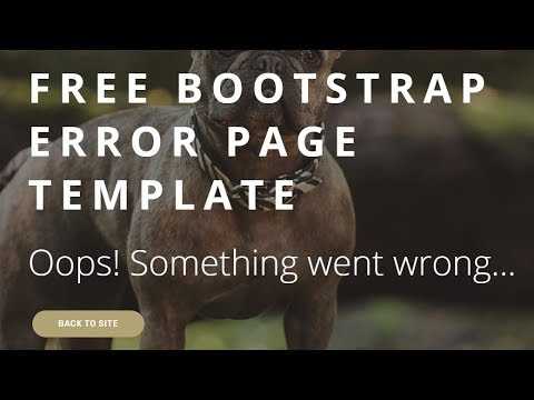 Free Bootstrap Error Page Template