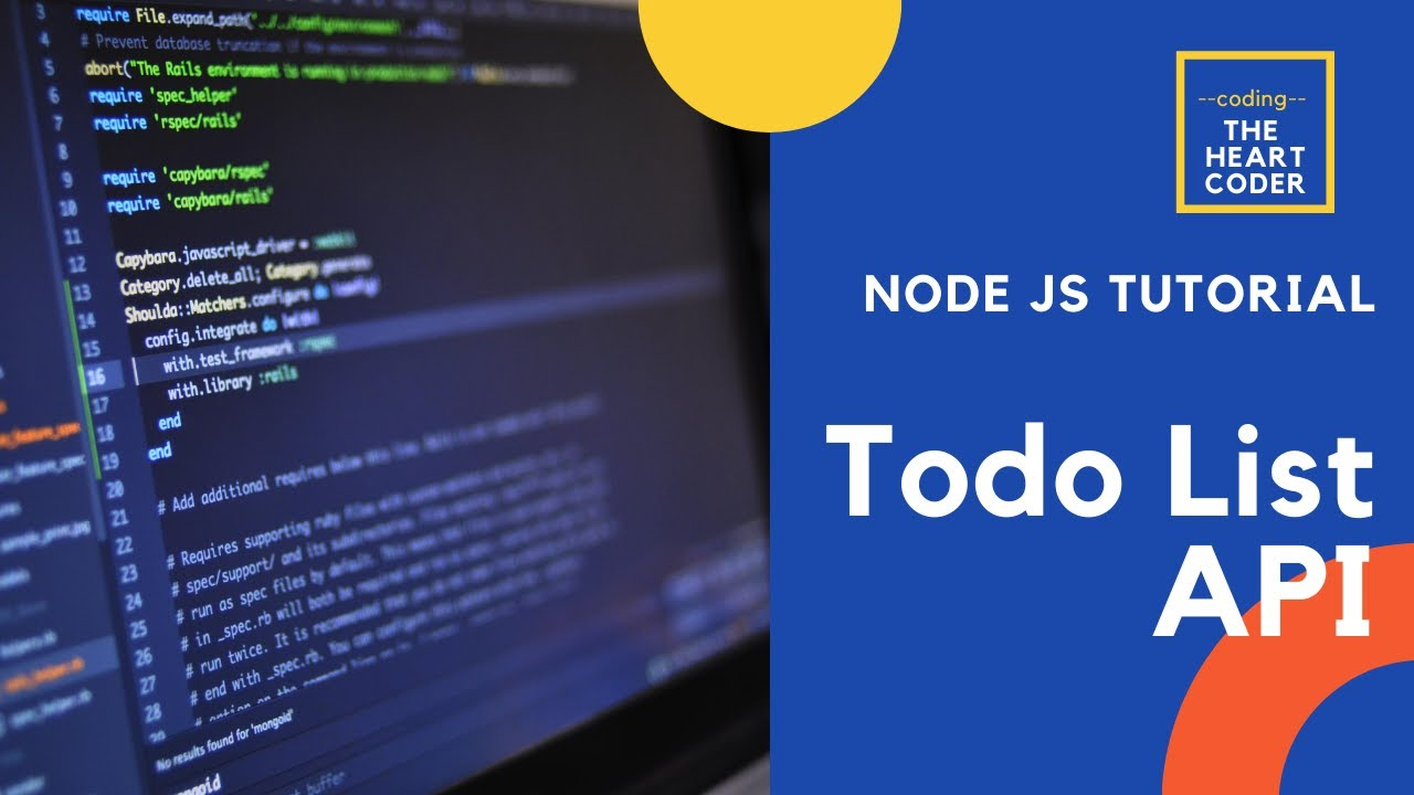 Build A REST API With Node.js, Express, & MongoDB - Todo list crud #restapi #nodejs
