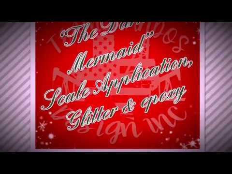 """The Dark Mermaid"" Scale Application, Glitter & Epoxy"
