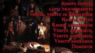 O Come All Ye Faithful Adeste Fideles Italian,English and Latin (Christmas Carol)