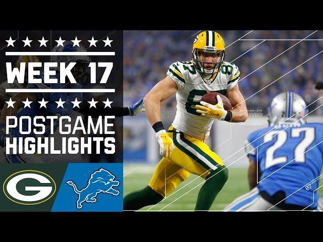 Packers vs. Lions | NFL Week 17 Game Highlights