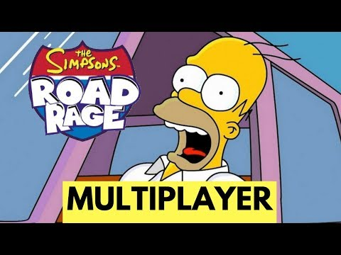 The Simpsons Road Rage (PS2) - Multiplayer - Head to Head Battle