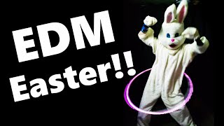 Easter Bunny Meme Dance to EDM Song (Funny Electronic Dance Music Video)