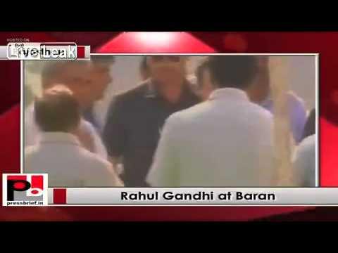Rahul Gandhi reaches Baran Rajasthan to address Congress rally